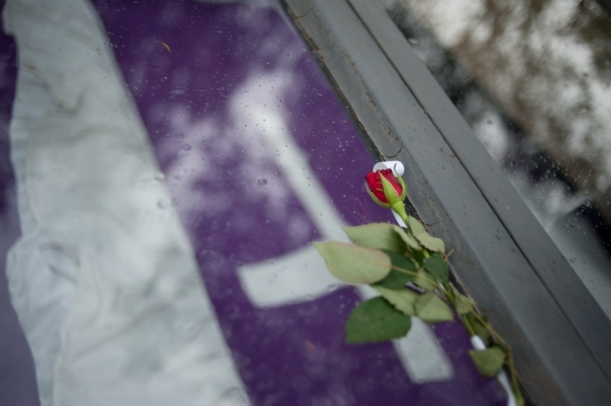 mass grave at memorial