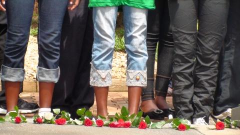 Peace Camp visits Kigali Genocide Memorial